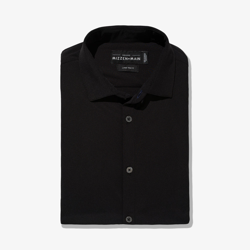 Leeward Dress Shirt - Black Solid, featured product shot