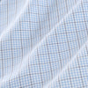 Leeward Dress Shirt - Navy Light Blue Tattersall, fabric swatch closeup