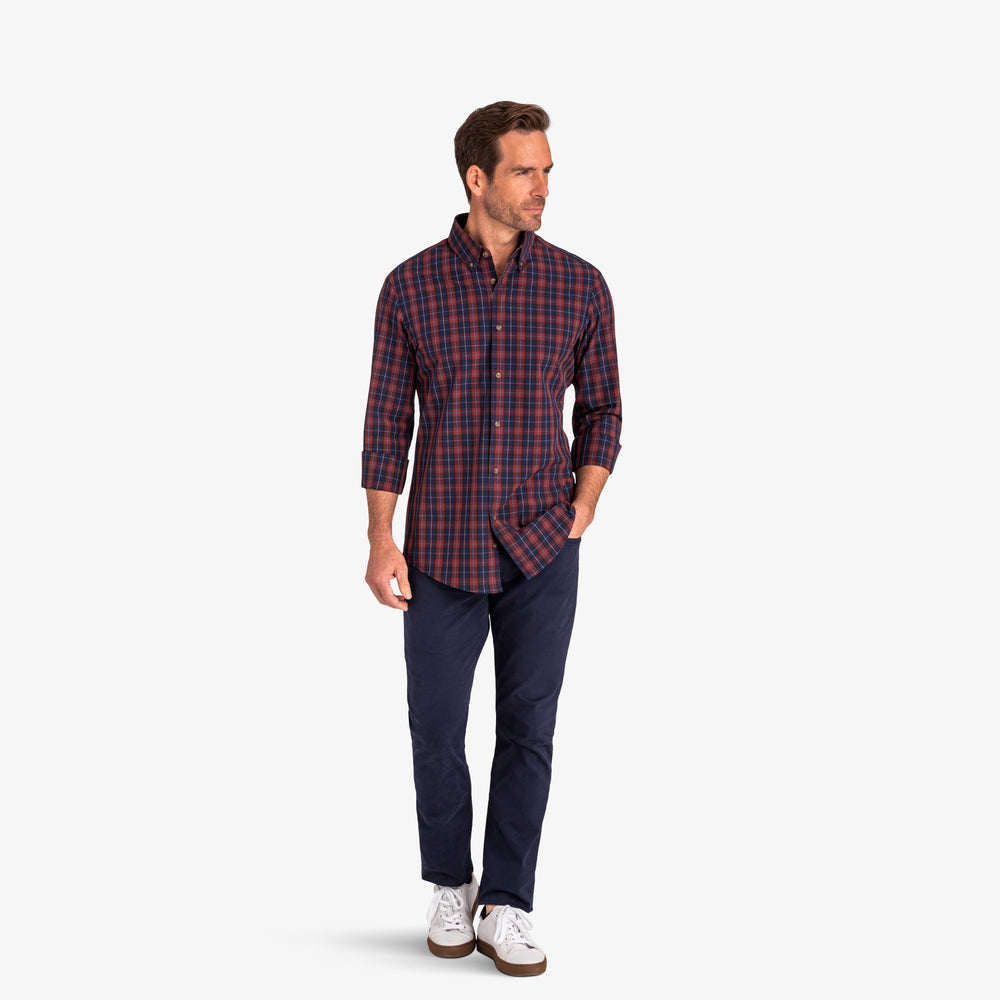 Leeward - Navy Red Multi Plaid, lifestyle/model photo