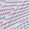 Leeward Dress Shirt - Red Blue Tattersall, fabric swatch closeup