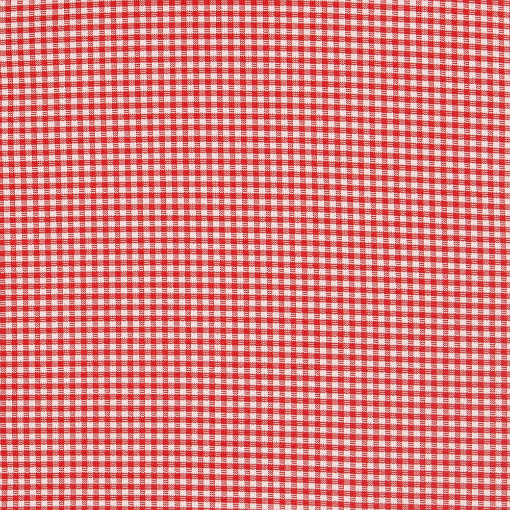 Hawthorne - Red Gingham, fabric swatch closeup