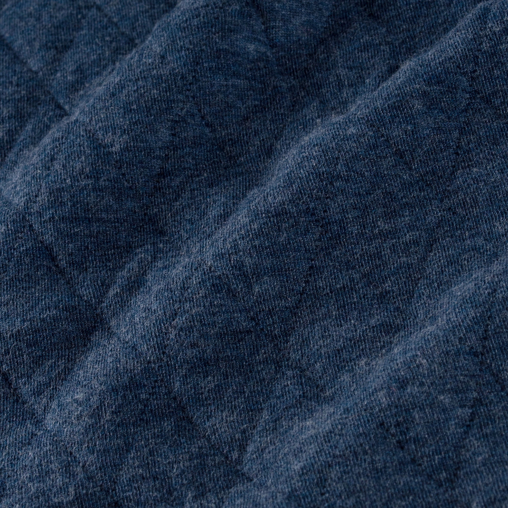Hendricks - Navy Heather, fabric swatch closeup