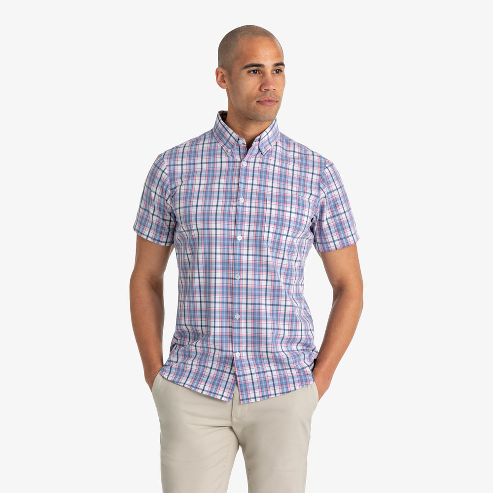 Herman - Blue Multi Plaid, lifestyle/model photo