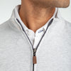 Fairway Pullover - Light Gray White Heather, lifestyle/model photo