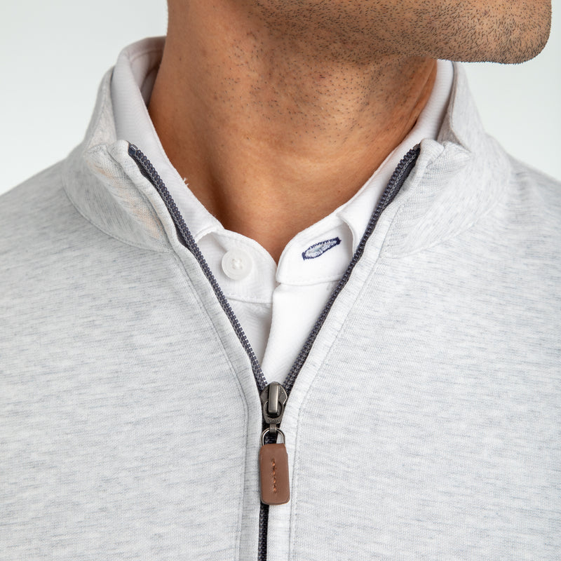 Fairway Pullover - Light Gray White Heather, lifestyle/model