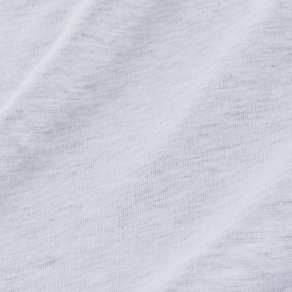 Hillman - Light Grey White Heather, fabric swatch closeup