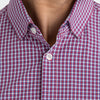 Leeward Dress Shirt - Red Blue Mini Check, lifestyle/model photo