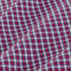 Leeward Dress Shirt - Red Blue Mini Check, fabric swatch closeup
