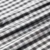 Leeward Dress Shirt - Black Gray Gingham, fabric swatch closeup
