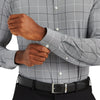 Leeward Dress Shirt - Gray Black Large Check, lifestyle/model photo