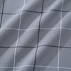 Leeward Dress Shirt - Gray Black Large Check, fabric swatch closeup