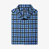 Leeward Casual Dress Shirt - Blue Block Print, featured product shot