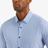 Leeward Dress Shirt - Navy Geo Dot Print, lifestyle/model photo