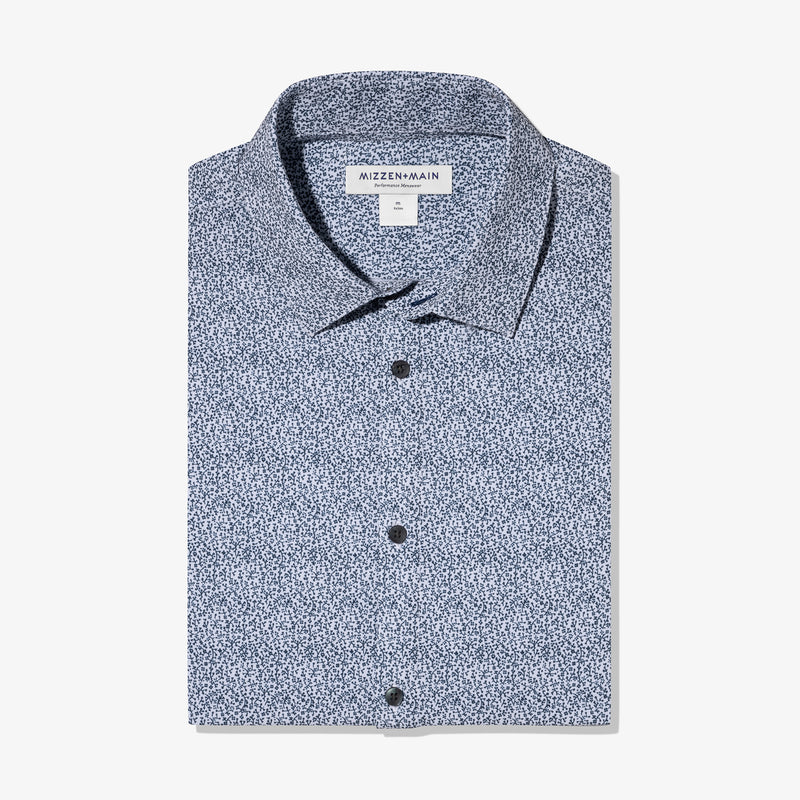 Leeward Dress Shirt - Navy Floral Print, featured product shot