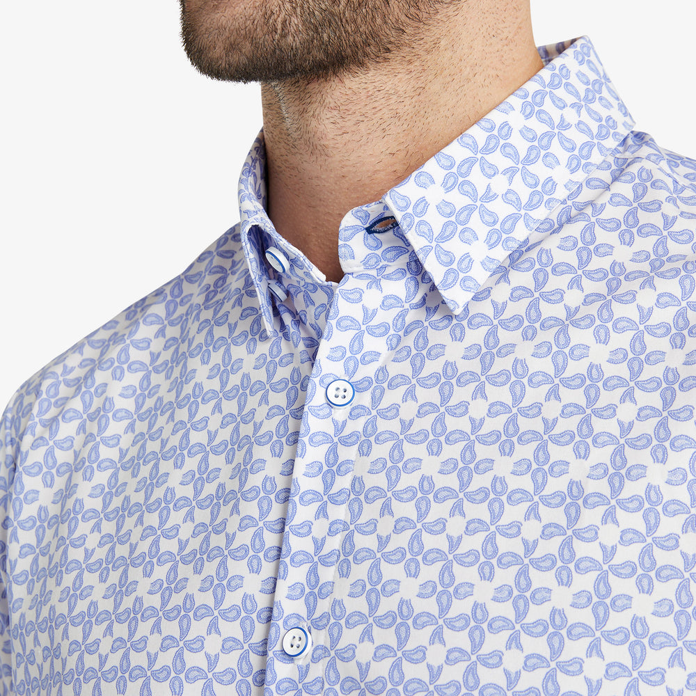 Leeward Short Sleeve - Navy Paisley Print, lifestyle/model photo