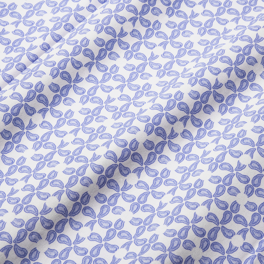 Leeward Short Sleeve - Navy Paisley Print, fabric swatch closeup