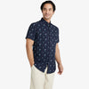 Leeward Short Sleeve - Navy Palm Tree Print, lifestyle/model photo