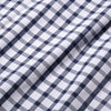 Leeward Short Sleeve - Navy Large Check, fabric swatch closeup