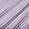 Leeward Dress Shirt - Navy Red Check, fabric swatch closeup