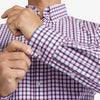 Leeward Dress Shirt - Navy Red Check, lifestyle/model photo