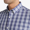 Leeward Dress Shirt - Navy Red Multi Plaid, lifestyle/model photo