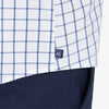 Leeward Casual Dress Shirt - Dark Blue Windowpane, lifestyle/model photo