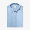 Leeward Dress Shirt - Light Blue Windowpane, featured product shot