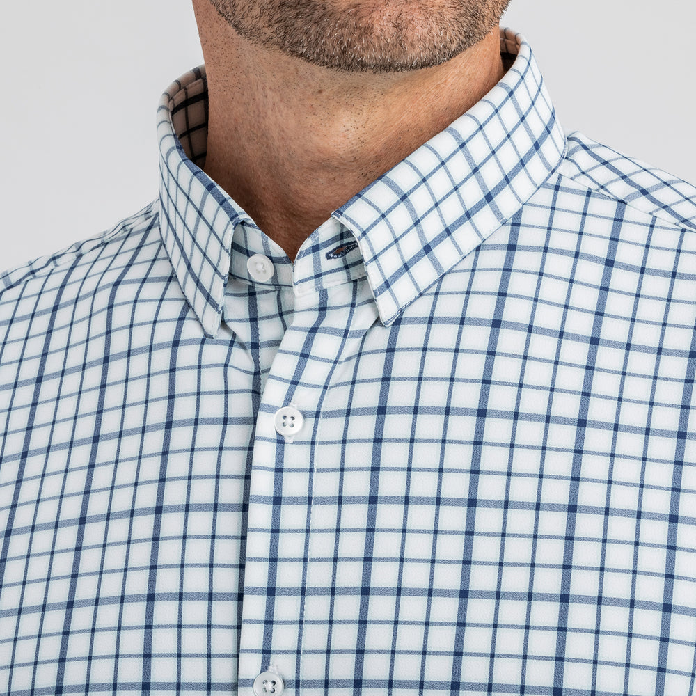 Leeward - Navy Aqua Multi Check, lifestyle/model photo