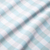 Leeward Short Sleeve - Light Blue Gray Medium Check, fabric swatch closeup