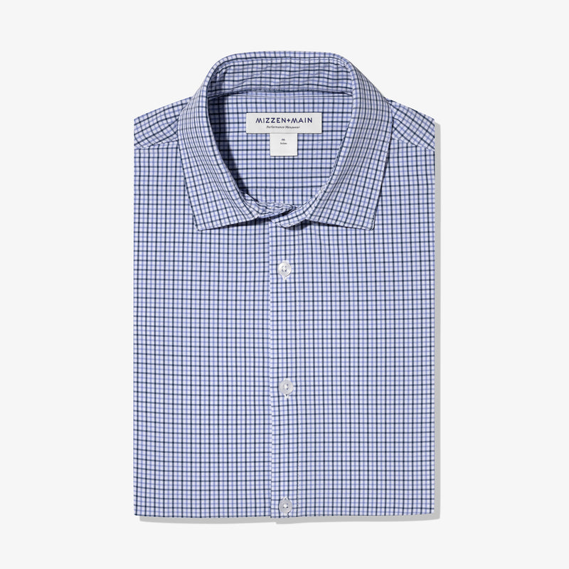 Leeward Dress Shirt - Navy Purple Check, featured product shot