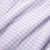 Leeward Dress Shirt - Red Light Blue Multi Check, fabric swatch closeup