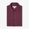 Leeward Dress Shirt - Red Navy Gingham, featured product shot