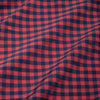 Leeward Dress Shirt - Red Navy Gingham, fabric swatch closeup
