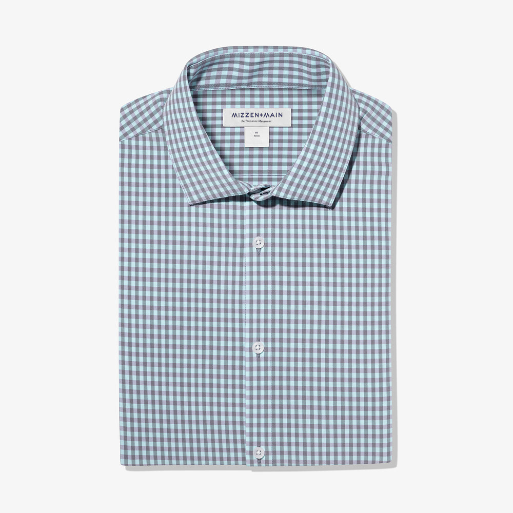 Fisher - Aqua Grey Gingham, featured product shot