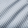 Leeward Dress Shirt - Aqua Gray Gingham, fabric swatch closeup