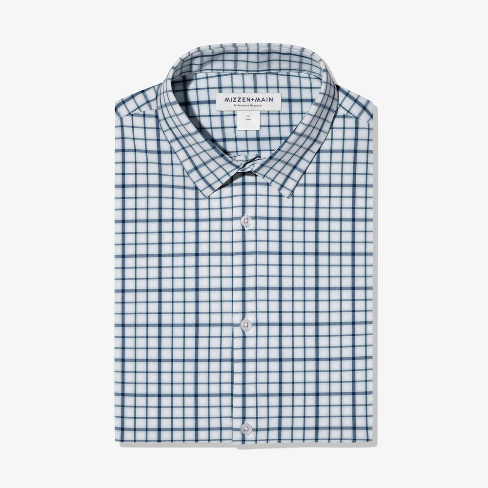 Leeward - Navy Aqua Multi Check, featured product shot