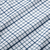 Leeward Dress Shirt - Navy Aqua Multi Check, fabric swatch closeup