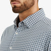 Lightweight Leeward Dress Shirt - Light Blue Check, lifestyle/model photo