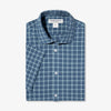 Lightweight Leeward Short Sleeve - Navy Aqua Check, featured product shot