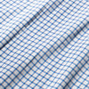 Lightweight Leeward Dress Shirt - Blue Orange Check, fabric swatch closeup