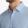 Lightweight Leeward Dress Shirt - Blue Orange Check, lifestyle/model photo