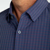Leeward Dress Shirt - Navy Red Medium Check, lifestyle/model photo