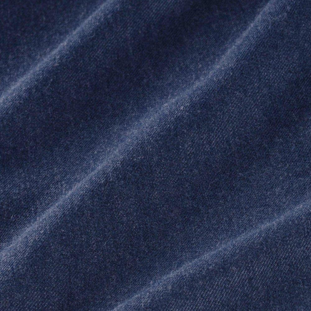Flannel - Solid Navy, fabric swatch closeup