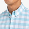 Leeward Short Sleeve - Light Blue Gray Medium Check, lifestyle/model photo