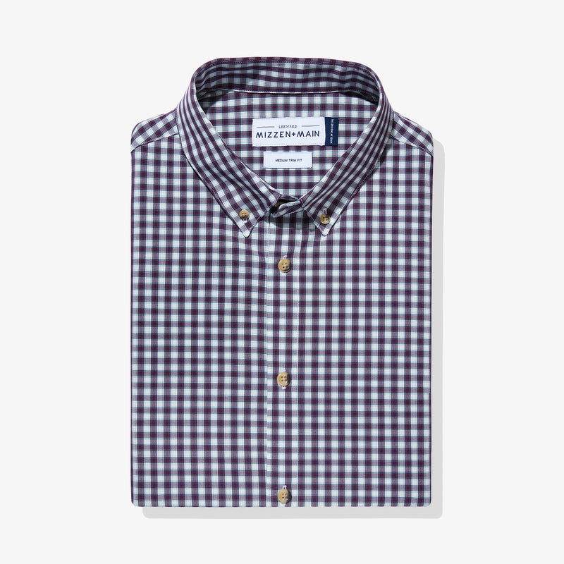 Leeward Dress Shirt - Purple Green Check, featured product shot