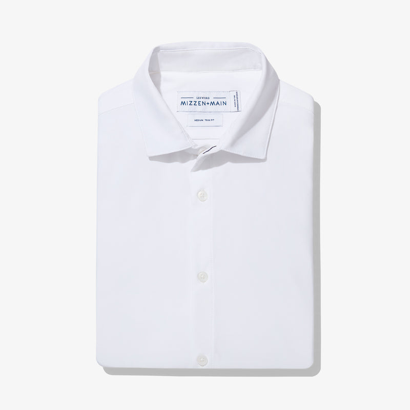 Leeward Dress Shirt - White Solid, featured product shot