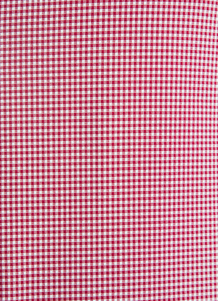 """Roosevelt"" Burgundy Gingham Performance Dress Shirt"