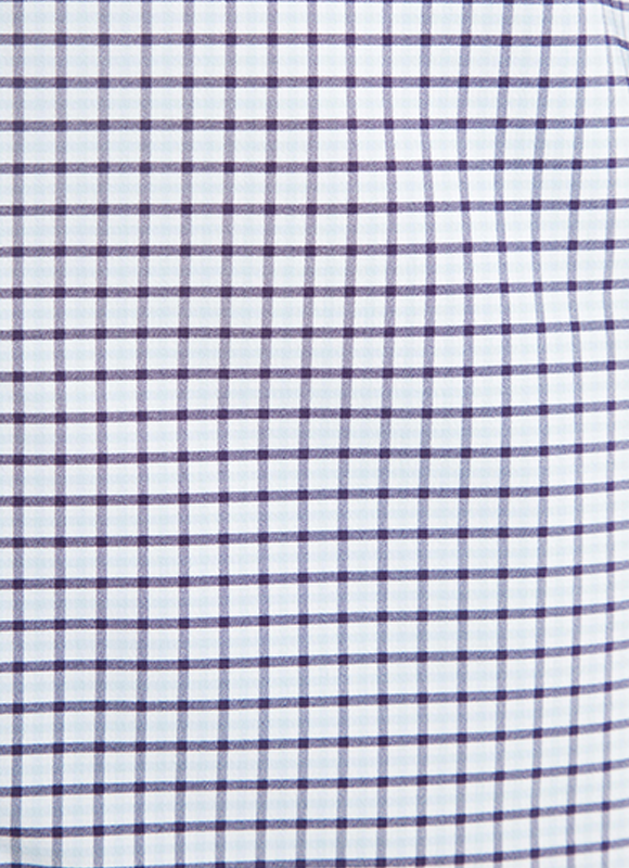 """Lincoln"" Purple & Light Blue Gingham Performance Dress Shirt"