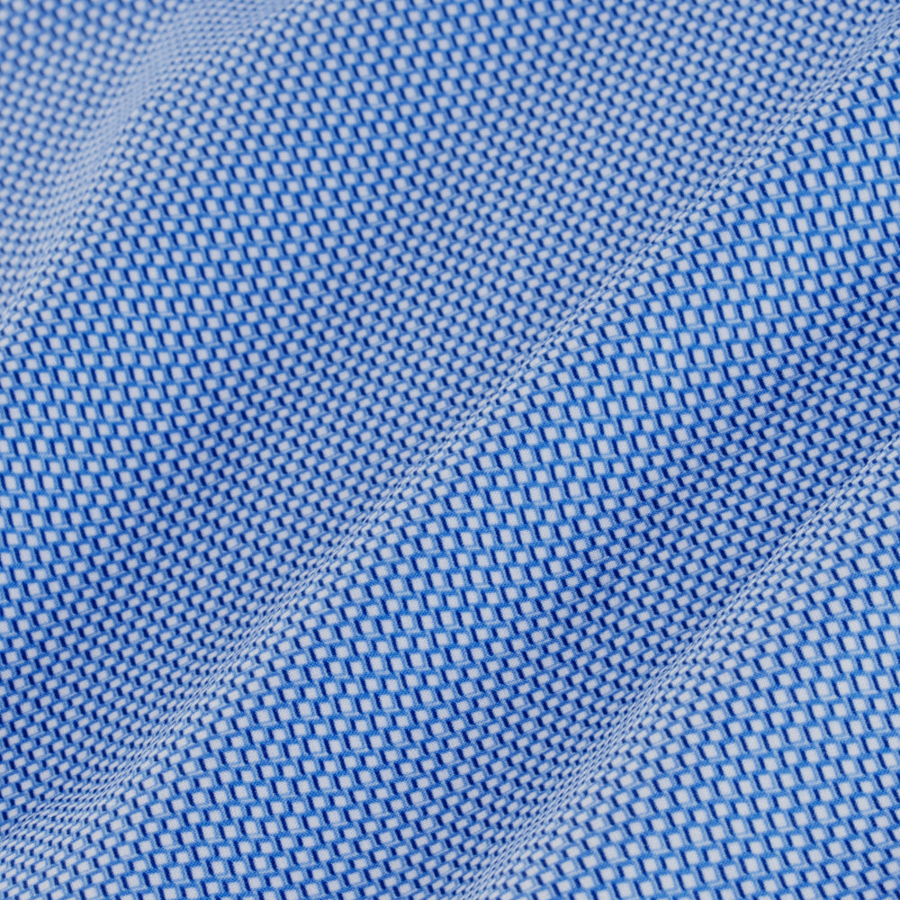 Williams - Light Blue Check, fabric swatch closeup