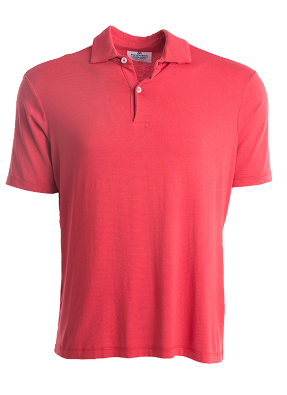 """Omaha"" Poppy Red Polo"